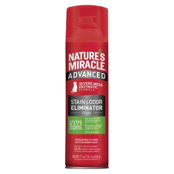 Устранитель-пена Nature's Miracle «Advanced Stain and Odor Eliminator» для удаления пятен и запахов от кошек с усиленной формулой 518 мл