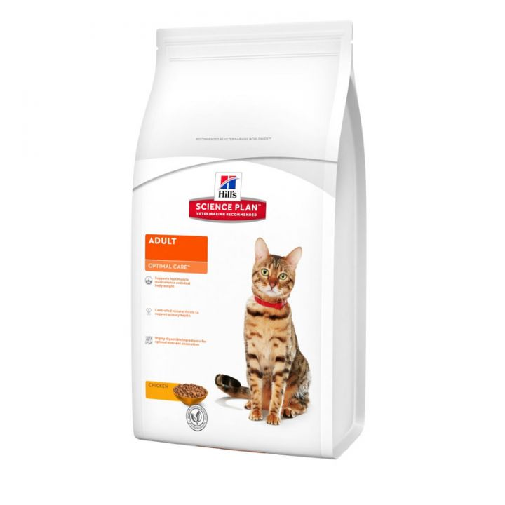 Сухой корм для кошек Hill's Science Plan Feline Adult Optimal Care Chicken 3 кг