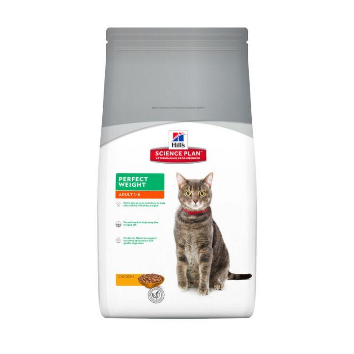 Сухой корм для кошек Hill's Science Plan Feline Adult Perfect Weight Chicken 1,5 кг