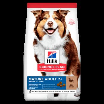 Сухой корм для собак Hill's Science Plan Canine Mature Adult 7+ Medium Lamb & Rice 14 кг