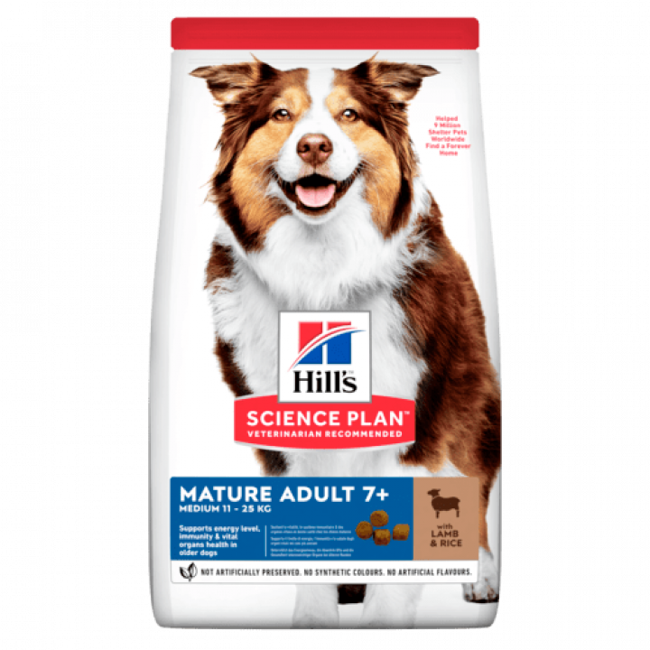 Сухой корм для собак Hill's Science Plan Canine Mature Adult 7+ Medium Lamb & Rice 14 кг