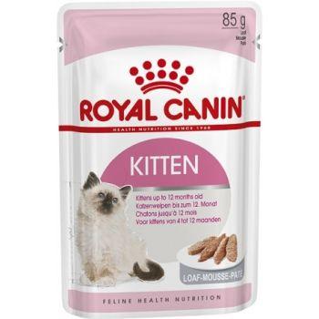 Акция 8+4! Влажный корм для кошек Royal Canin Kitten Loaf 85 г х 12 шт