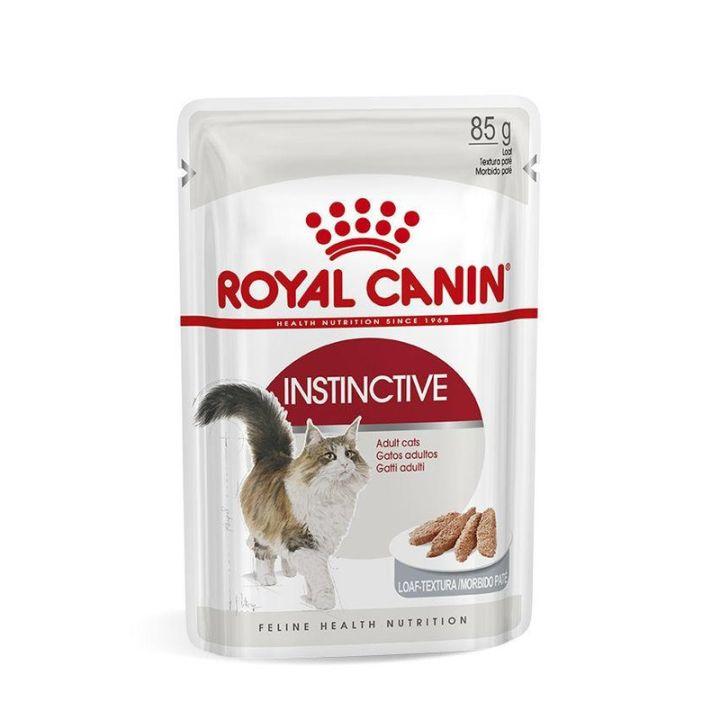 Акция 8+4! Влажный корм для кошек Royal Canin Instinctive Loaf 85 г х 12 шт