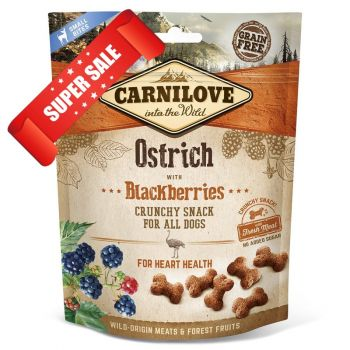 Лакомство для здоровья сердца собак Carnilove Ostrich with Blackberries For Heart Health 200 г