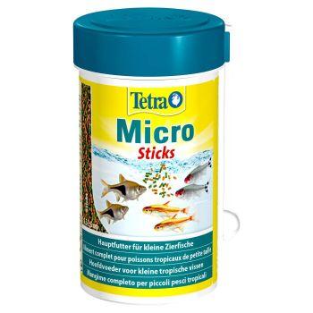 Сухой корм для мелких аквариумных рыб Tetra в палочках «Micro Sticks» 100 мл (для всех аквариумных рыб)