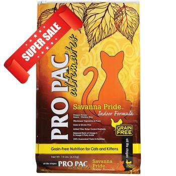 Сухой корм для кошек Pro Pac Ultimates Savanna Pride Indoor Formula 6 кг