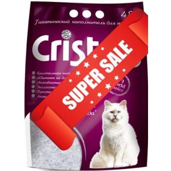 Силикагелевый наполнитель для кошачьего туалета Cristals Fresh с ароматом лаванды 4,8 л