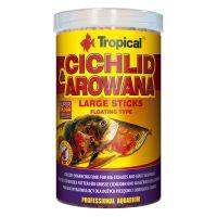Сухой корм для аквариумных рыб Tropical в палочках «Cichlid & Arowana Large Sticks» 1 л (для плотоядных цихлид)