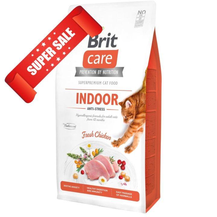 Сухой корм для кошек Brit Care Grain-Free Indoor Anti-Stress Fresh Chicken 7 кг