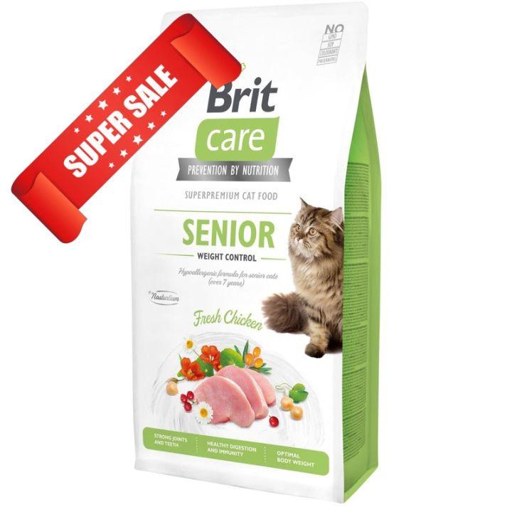 Сухой корм для кошек Brit Care Grain-Free Senior Weight Control Fresh Chicken 7 кг
